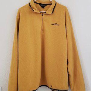 Yellow Eddie Bauer fleece size XL